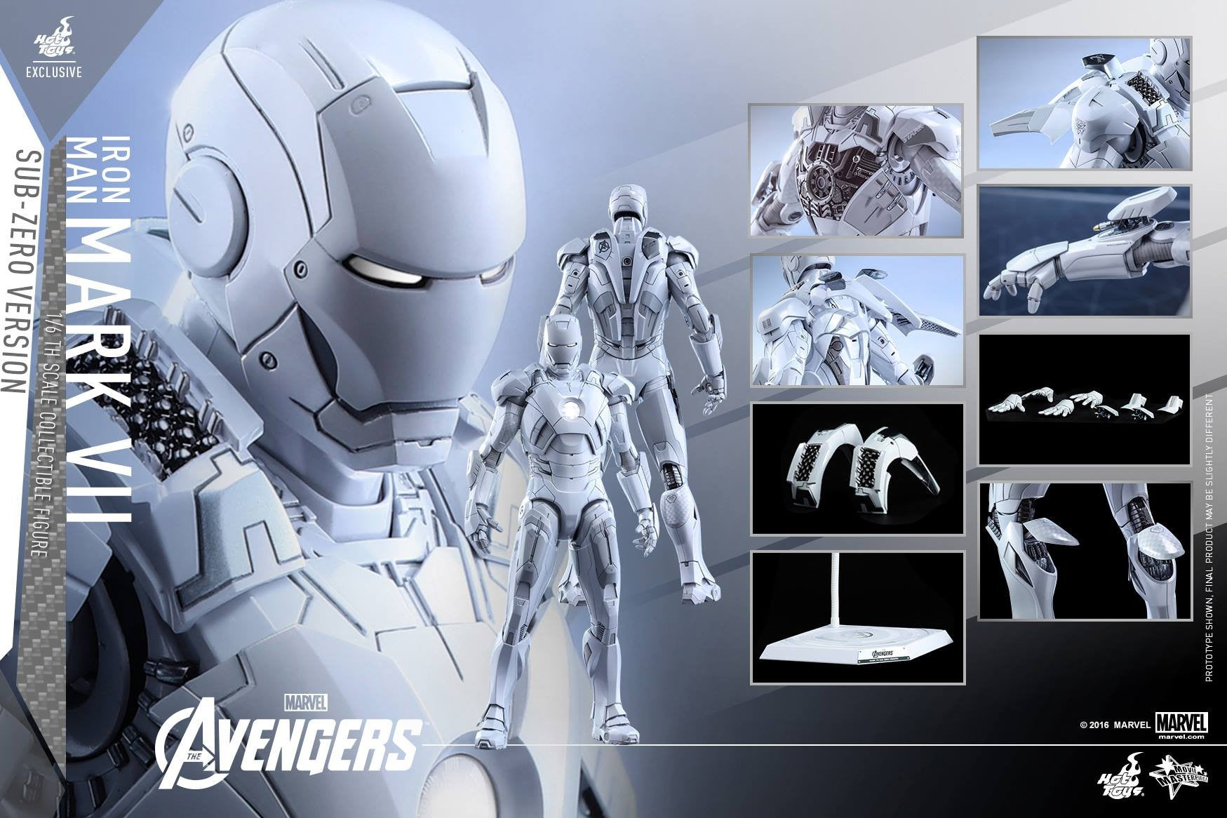 (IN STOCK) Hot Toys - MMS329 - The Avengers - Iron Man Mark VII (Sub-Zero Version) - Marvelous Toys - 10