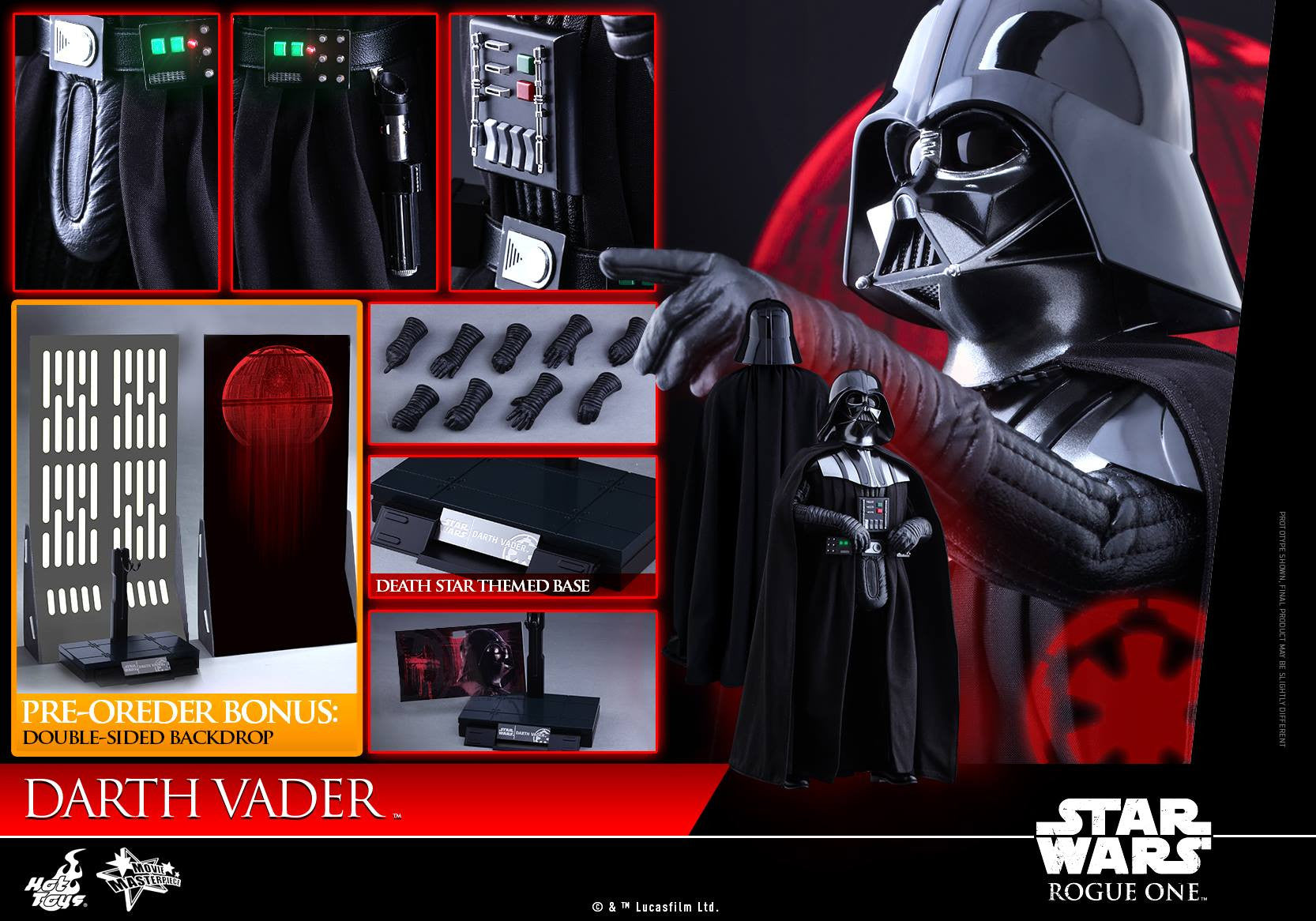 Hot Toys - MMS388 - Rogue One: A Star Wars Story - Darth Vader - Marvelous Toys - 16