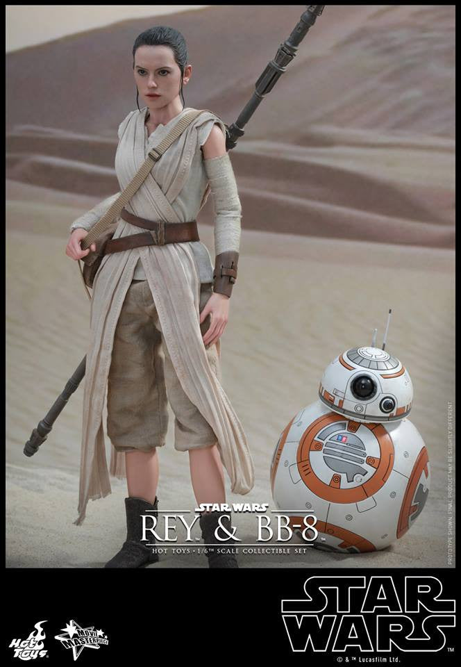 (IN STOCK) Hot Toys - MMS337 - Star Wars: The Force Awakens - Rey and BB-8
