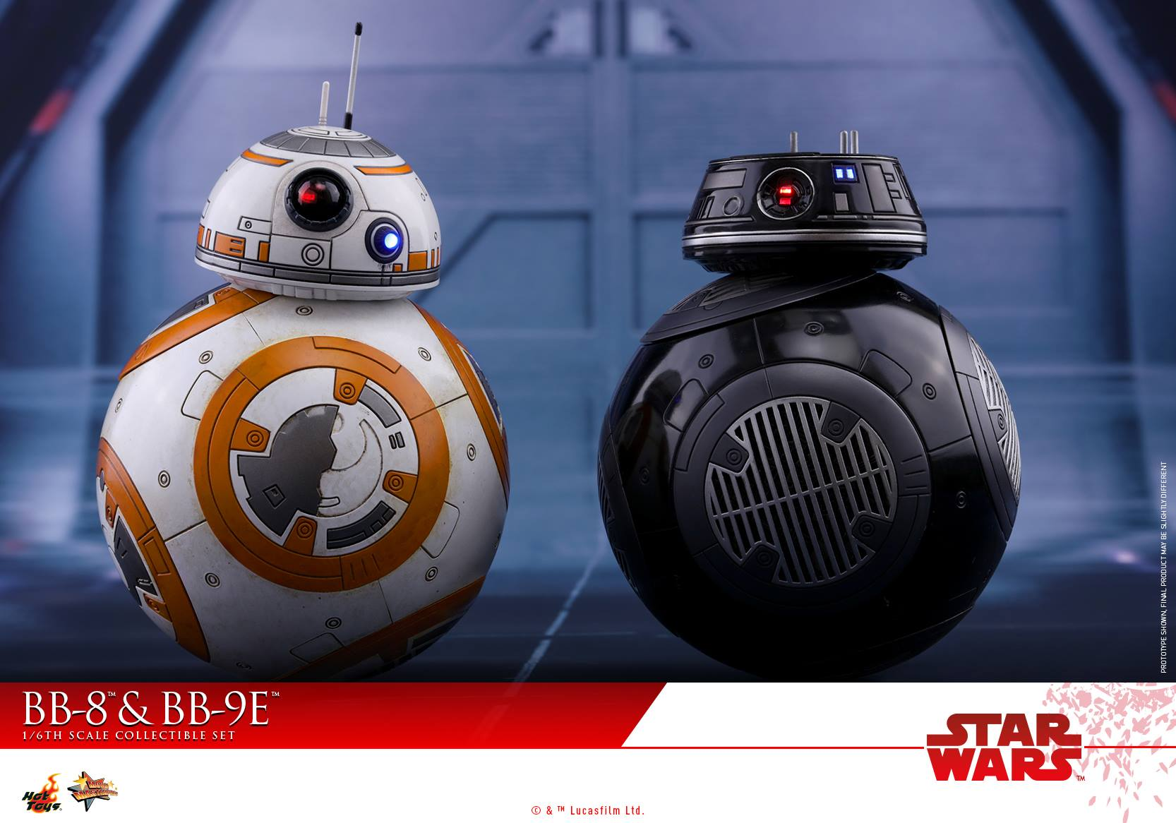 Hot Toys - MMS442 - Star Wars: The Last Jedi - BB-8 and BB-9E Set (1/6 Scale)