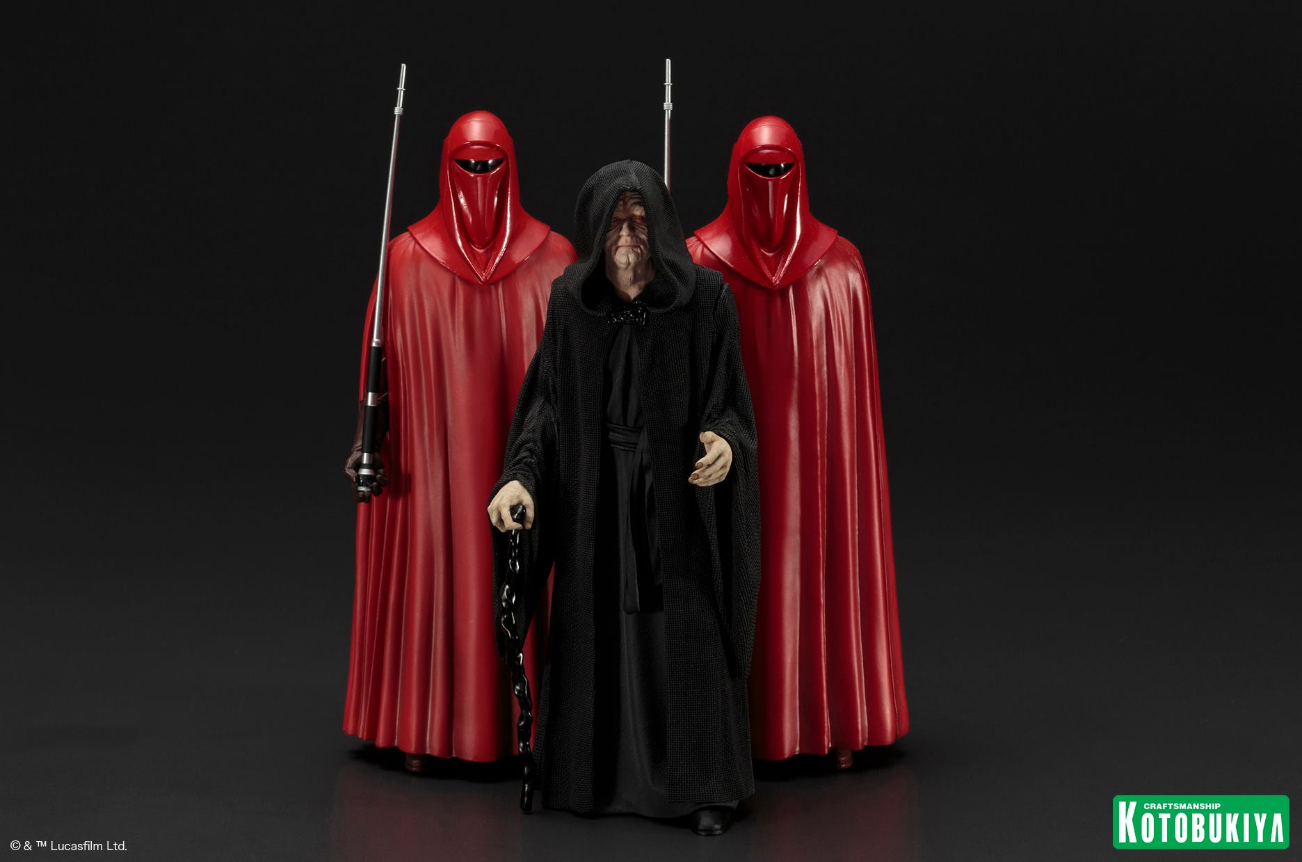 Kotobukiya - ARTFX+ - Star Wars - Emperor Palpatine with Royal Guards 3-Pack