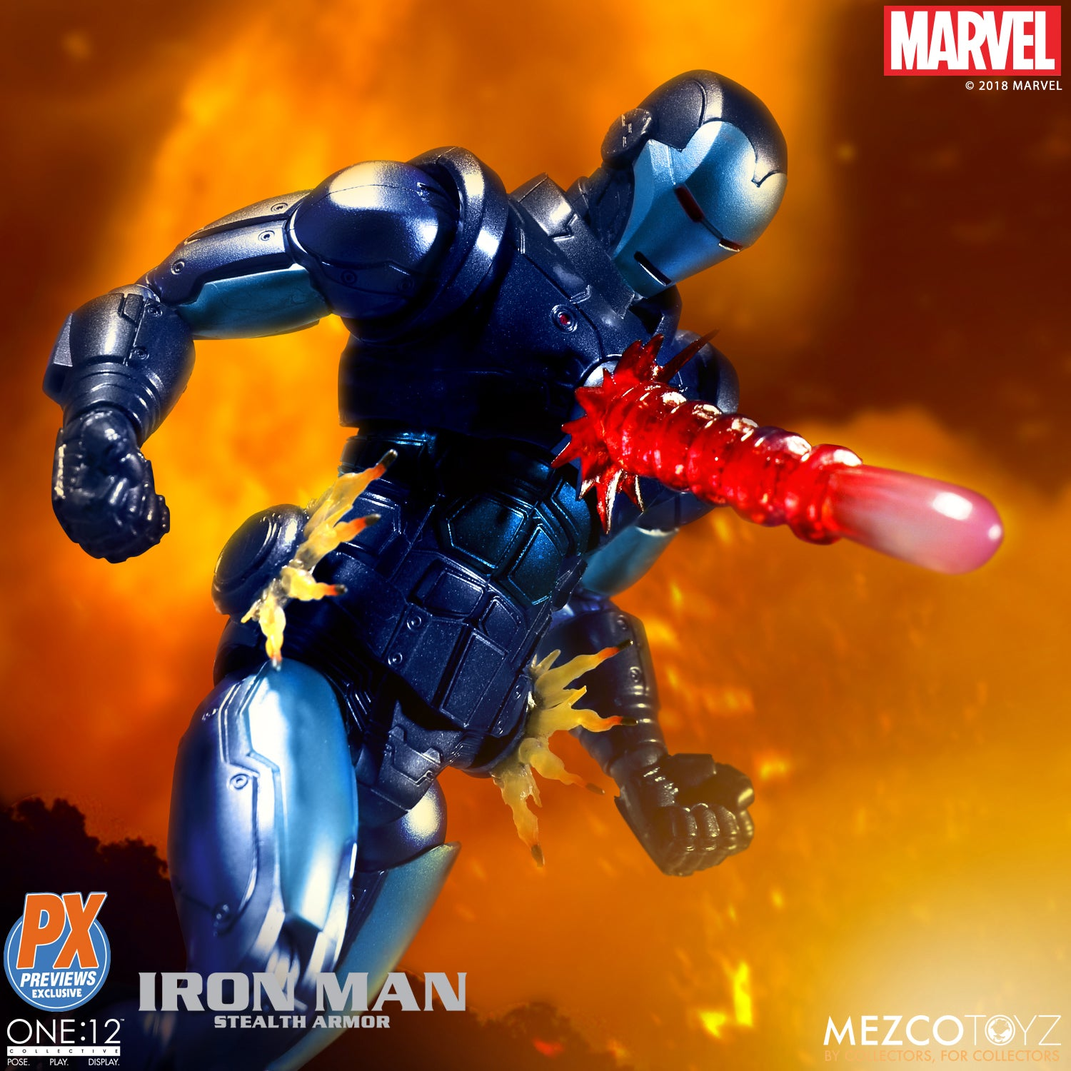 Mezco - One:12 Collective - Iron Man (Stealth Armor) Previews Exclusive