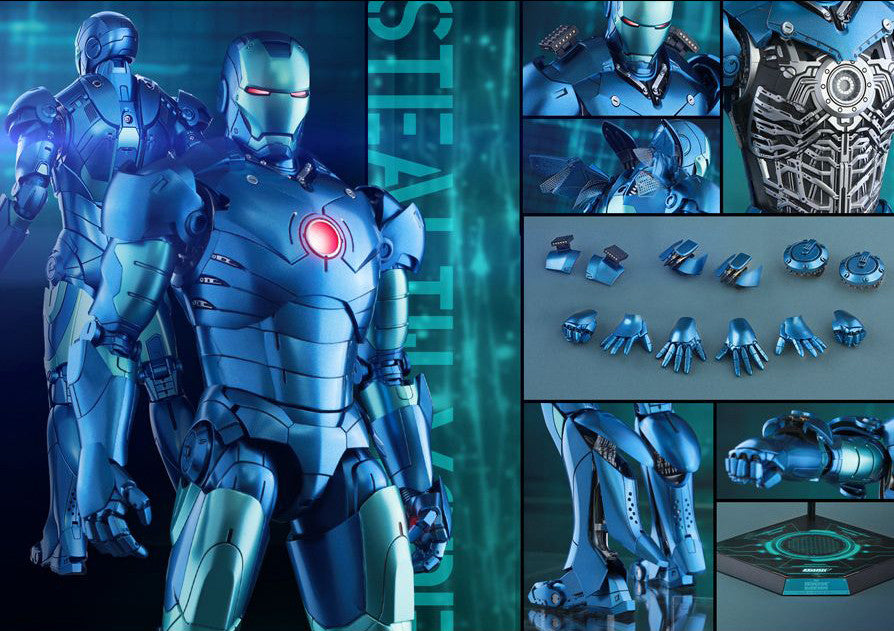 (IN STOCK) Hot Toys - Iron Man - Mark III (Stealth Mode Version) MMS314D12 - Marvelous Toys - 19