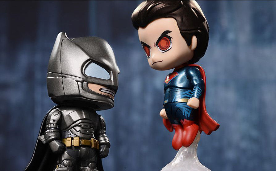 Armored Batman and Superman Cosbaby Collectible Set COSB197-198 - Batman v Superman: Dawn Of Justice - Hot Toys - Marvelous Toys - 1