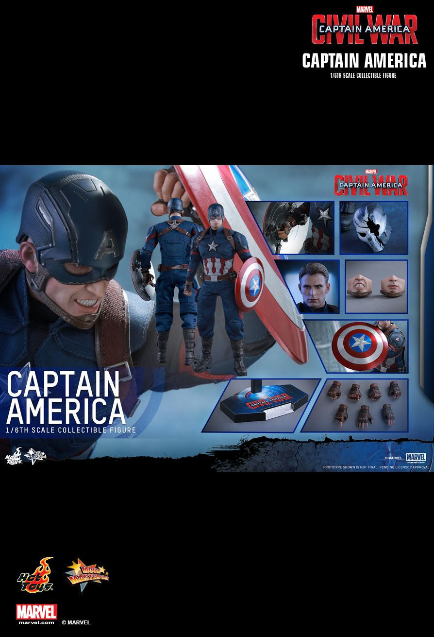 Hot Toys - Captain America: Civil War - Captain America MMS350 - Marvelous Toys - 13