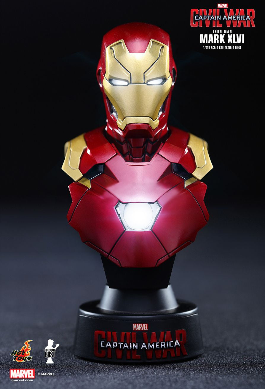 (IN STOCK) Hot Toys - HTB32 - Captain America: Civil War - Iron Man Mark XLVI Collectible Bust - Marvelous Toys - 1
