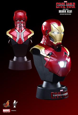 (IN STOCK) Hot Toys - HTB32 - Captain America: Civil War - Iron Man Mark XLVI Collectible Bust - Marvelous Toys - 2