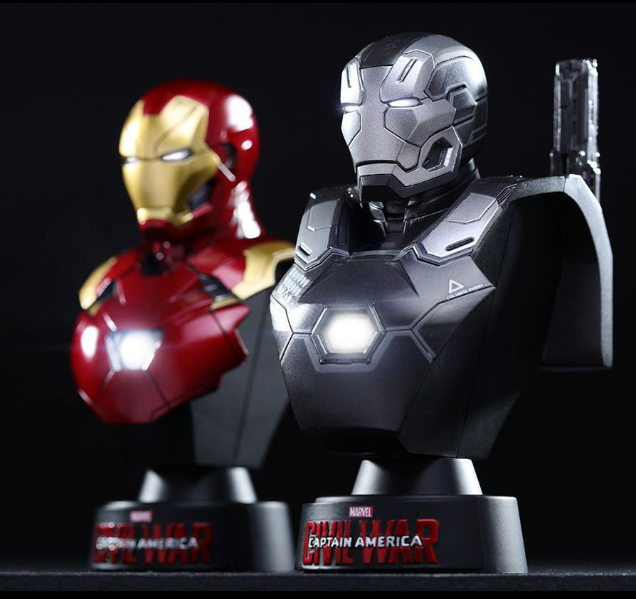 (IN STOCK) Hot Toys - HTB33 - Captain America: Civil War - War Machine Mark III Collectible Bust - Marvelous Toys - 3