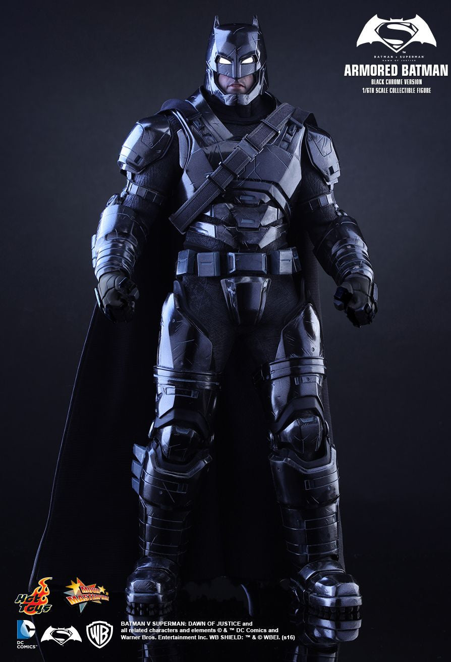 Hot Toys - Batman v Superman: Dawn of Justice - Armored Batman (Black Chrome Ver.) MMS356 - Marvelous Toys - 9