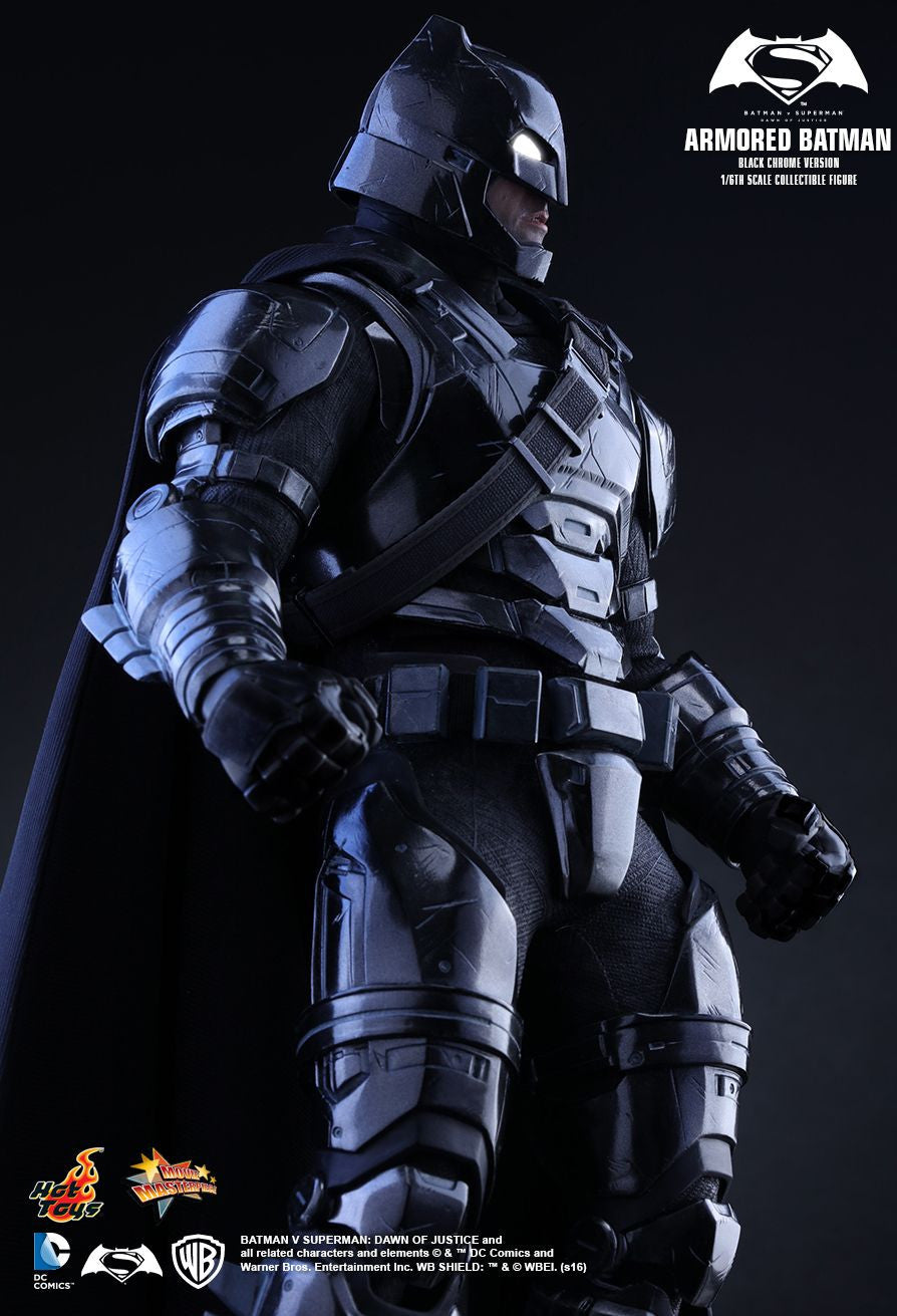 Hot Toys - Batman v Superman: Dawn of Justice - Armored Batman (Black Chrome Ver.) MMS356 - Marvelous Toys - 3