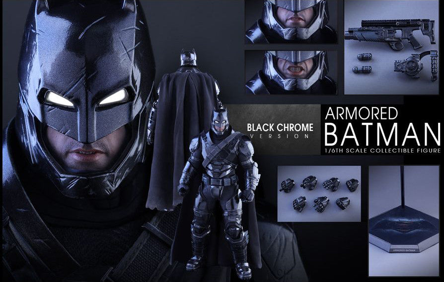 Hot Toys - Batman v Superman: Dawn of Justice - Armored Batman (Black Chrome Ver.) MMS356 - Marvelous Toys - 2