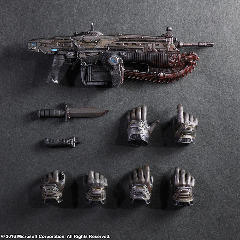 Play Arts Kai - Gears of War 3 - Marcus Fenix - Marvelous Toys - 8