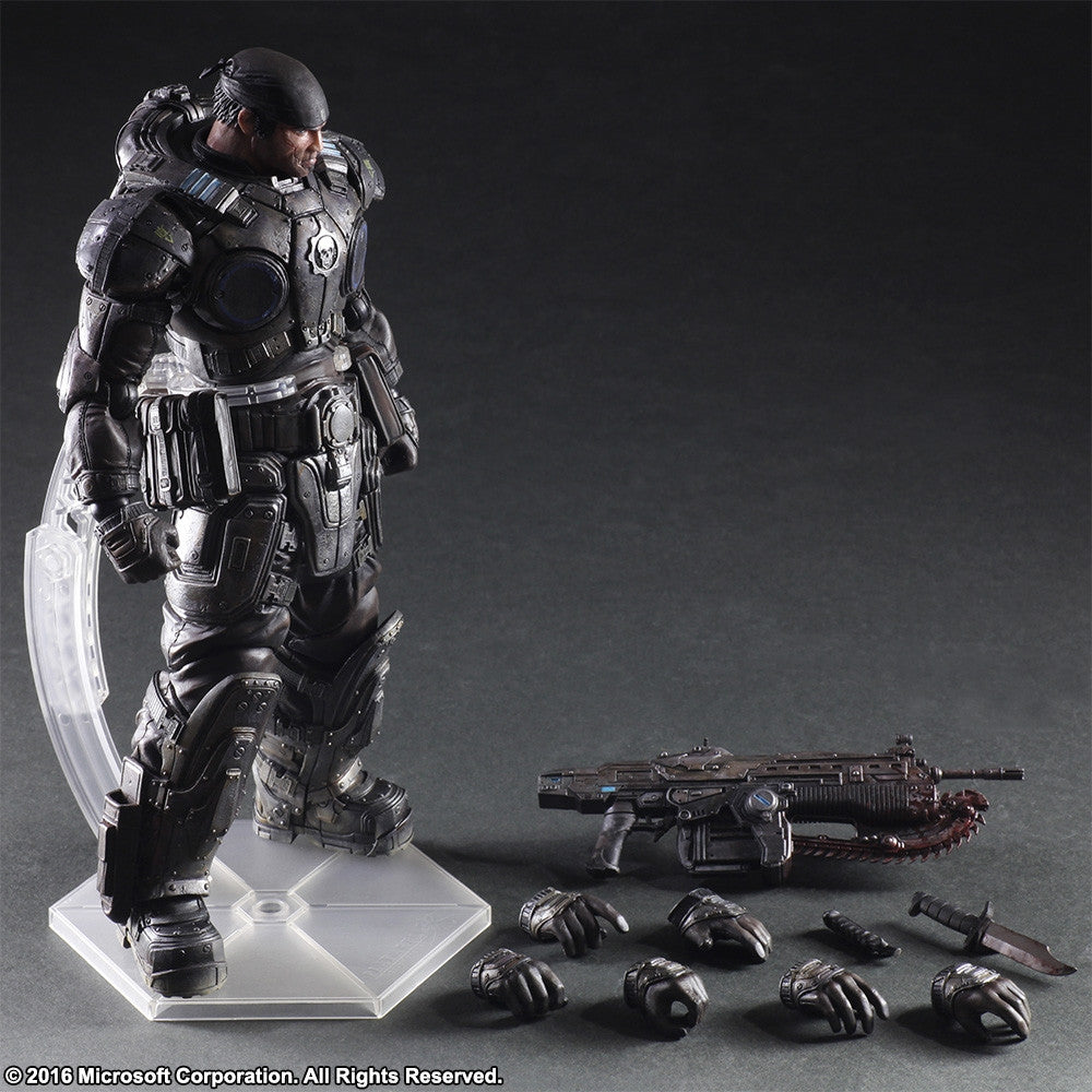 Play Arts Kai - Gears of War 3 - Marcus Fenix - Marvelous Toys - 9