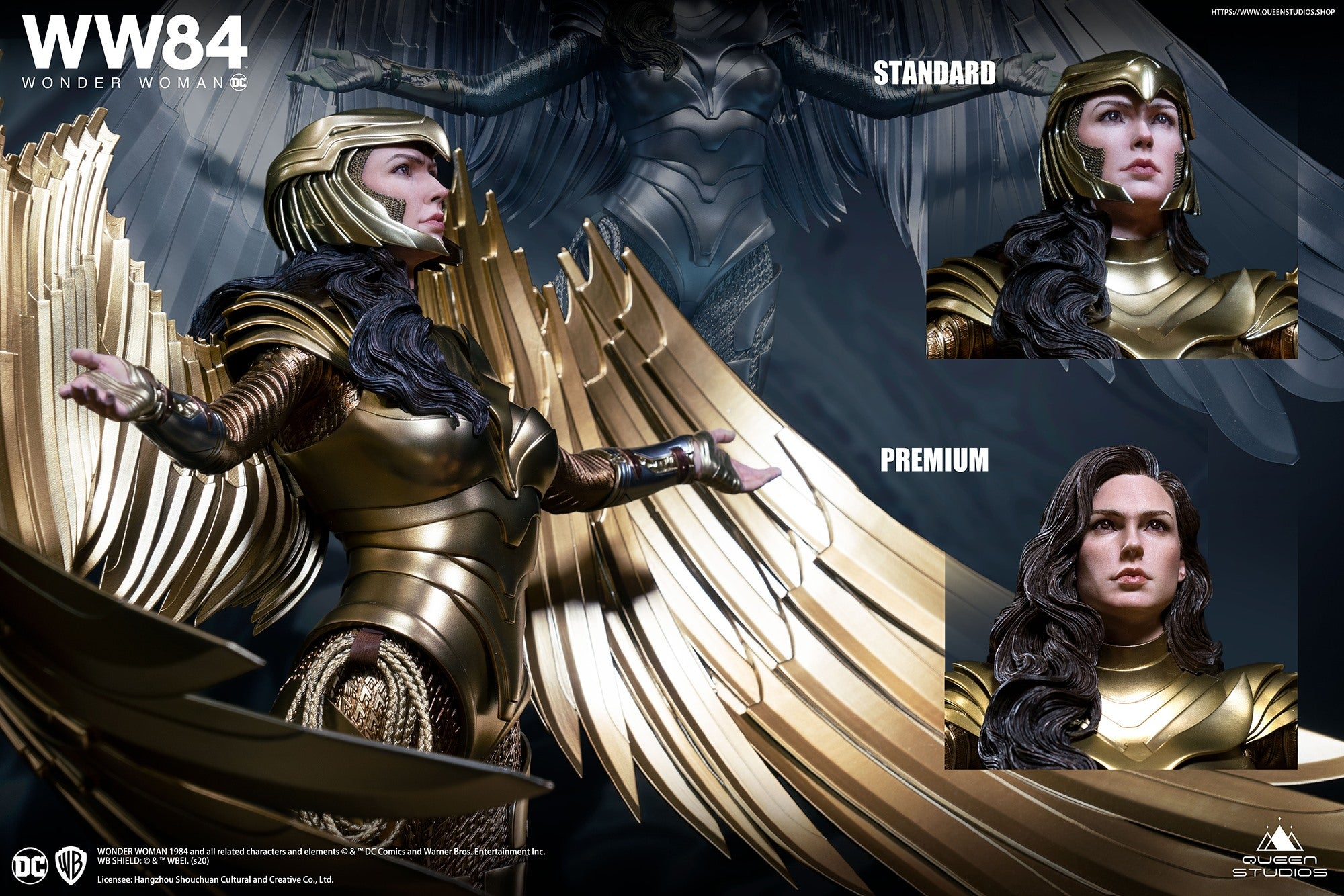 Queen Studios - Wonder Woman 1984 - Wonder Woman (Golden Armor) (1/4 Scale) (Premium Ver.)