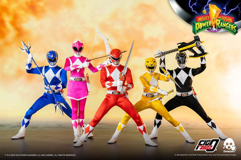 Threezero - Mighty Morphin Power Rangers - Core Rangers + Green Ranger Six-Pack (1/6 Scale)
