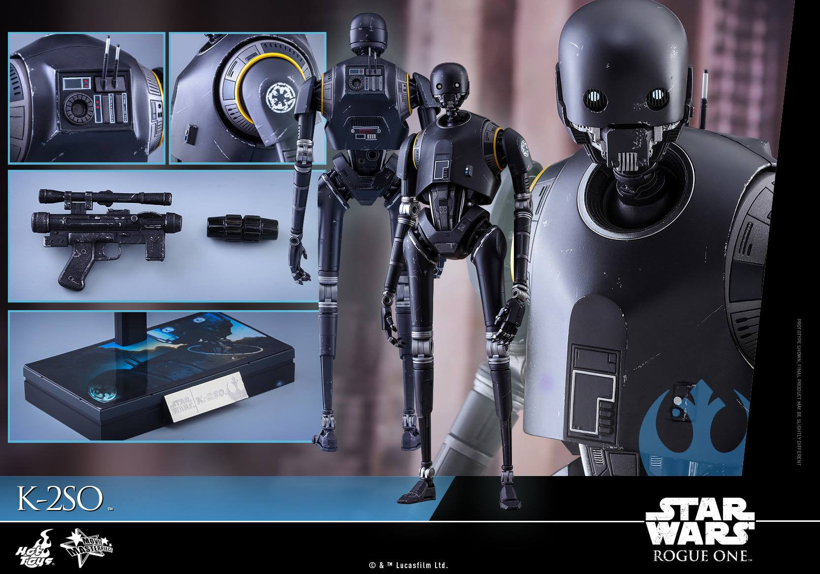 Hot Toys - MMS406 - Rogue One: A Star Wars Story - K-2SO - Marvelous Toys - 18