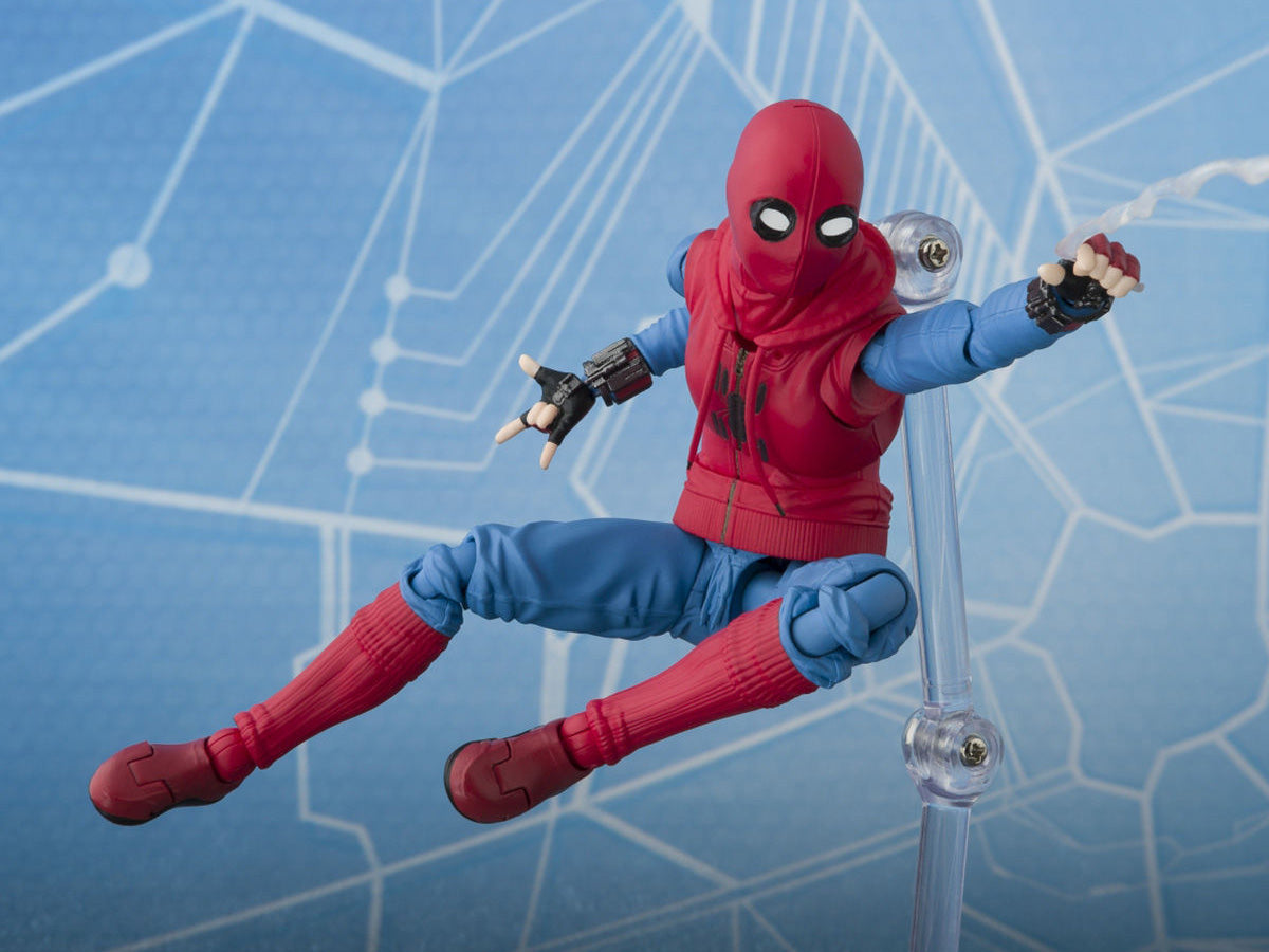 S.H.Figuarts - Spider-Man: Homecoming - Iron Man Mark 47 and Spider-Man (Homemade Suit Ver.) (TamashiiWeb Exclusive)