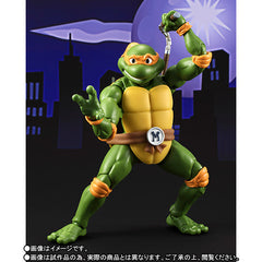 (IN STOCK) S.H.Figuarts - Teenage Mutant Ninja Turtles - Michelangelo (Tamashii Web Exclusive) - Marvelous Toys - 3