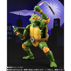 (IN STOCK) S.H.Figuarts - Teenage Mutant Ninja Turtles - Michelangelo (Tamashii Web Exclusive) - Marvelous Toys - 1