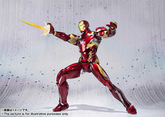 (IN STOCK) S.H. Figuarts - Captain America Civil War - Captain America & Iron Man Mark 46 Special Box Set ToysRUs Japan Exclusive - Marvelous Toys - 15