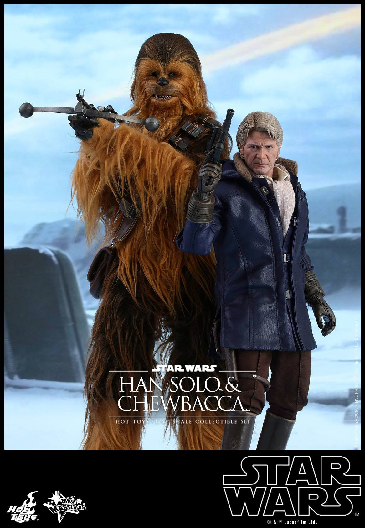 Hot Toys - MMS376 - Star Wars: The Force Awakens - Han Solo & Chewbacca Set - Marvelous Toys - 1