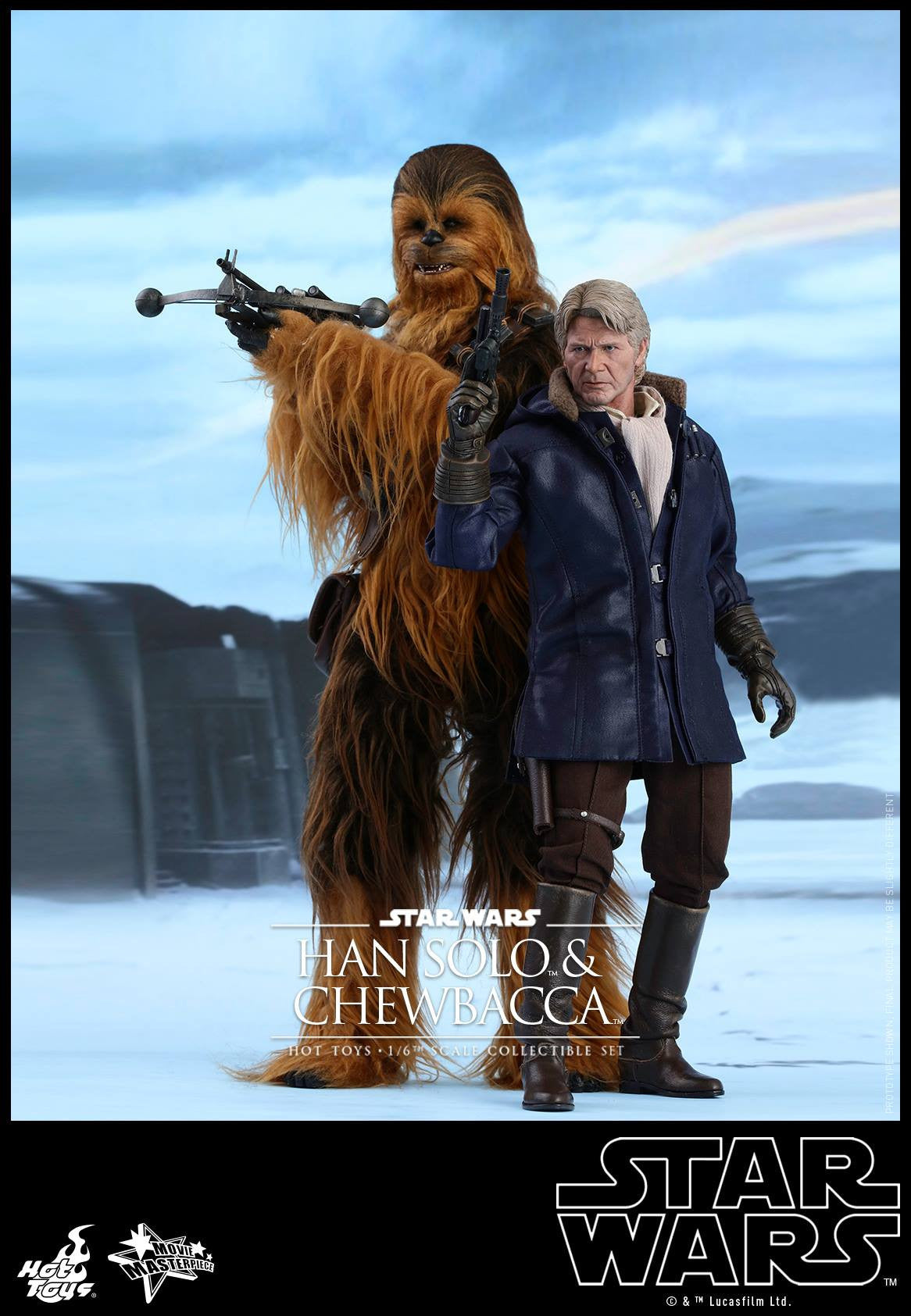 Hot Toys - MMS376 - Star Wars: The Force Awakens - Han Solo & Chewbacca Set - Marvelous Toys - 3