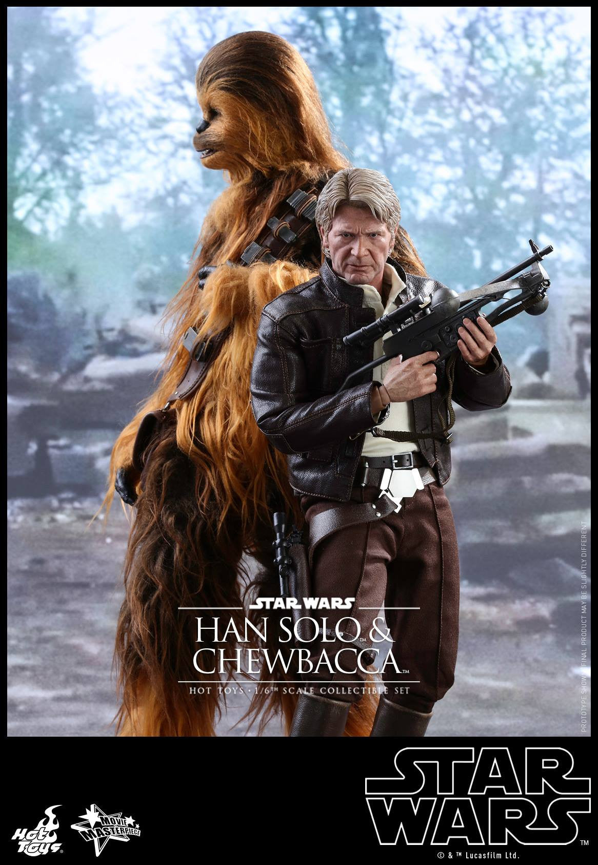 Hot Toys - MMS376 - Star Wars: The Force Awakens - Han Solo & Chewbacca Set - Marvelous Toys - 5