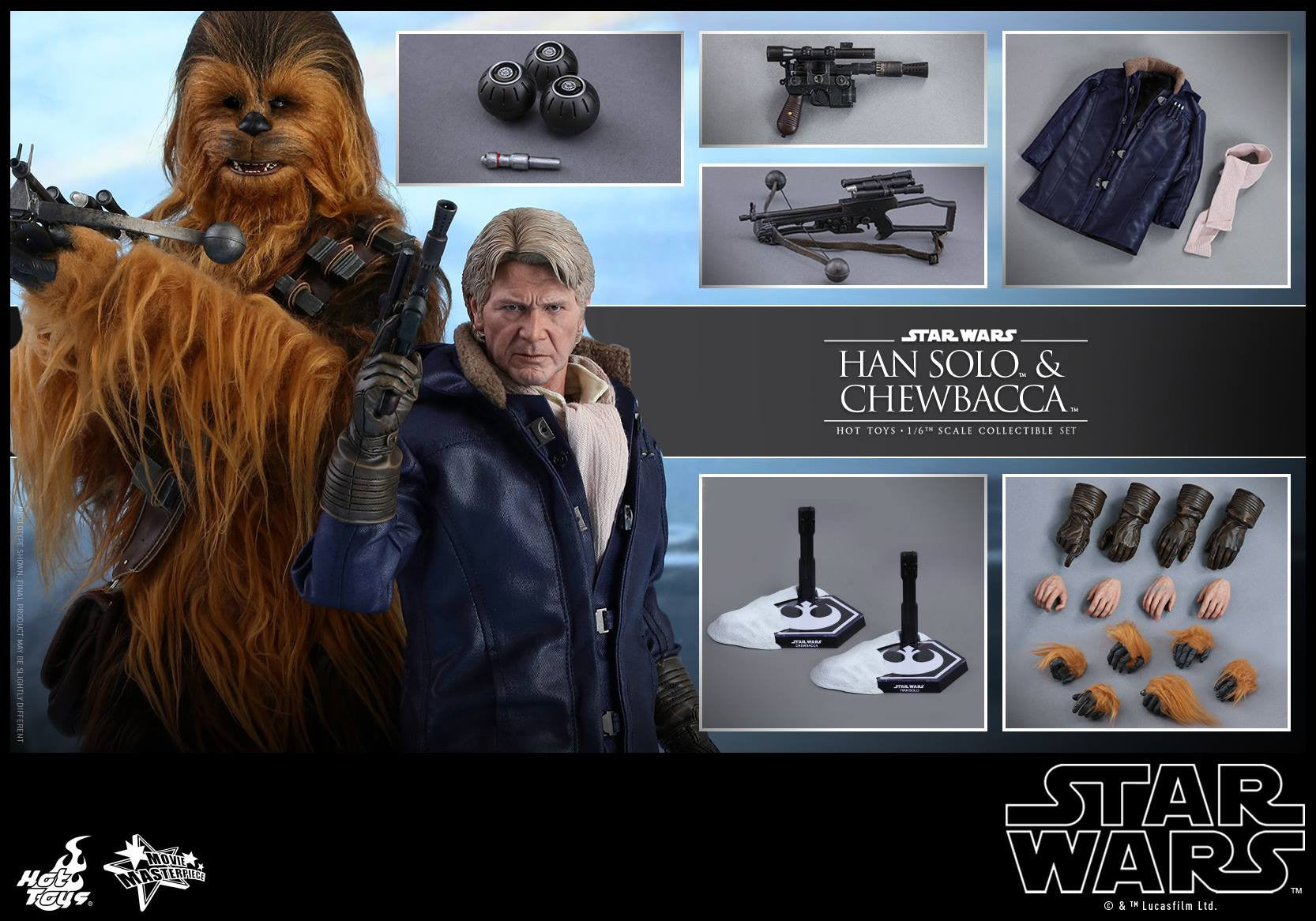 Hot Toys - MMS376 - Star Wars: The Force Awakens - Han Solo & Chewbacca Set - Marvelous Toys - 8