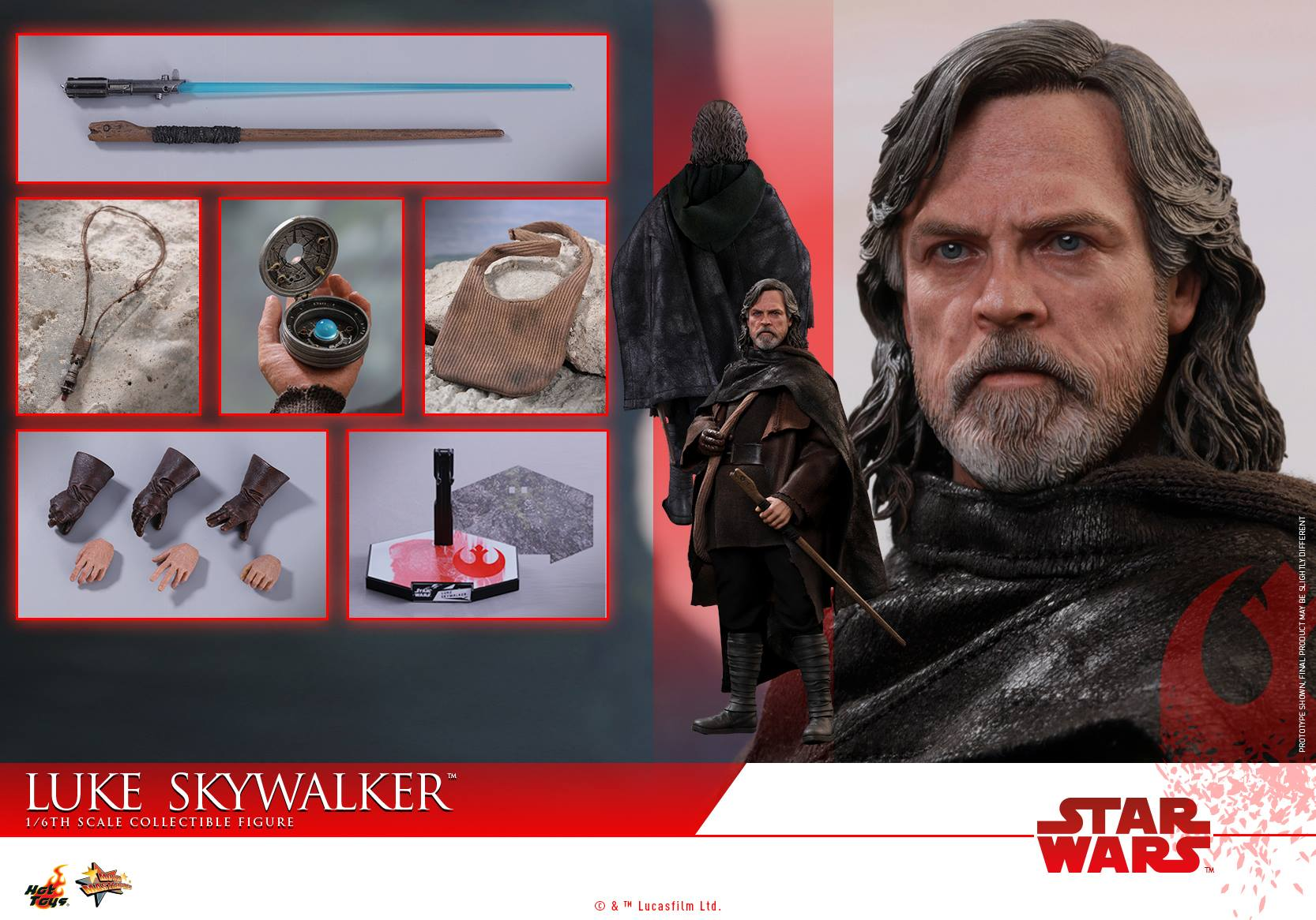 (IN STOCK) Hot Toys - MMS457 - Star Wars: The Last Jedi - Luke Skywalker