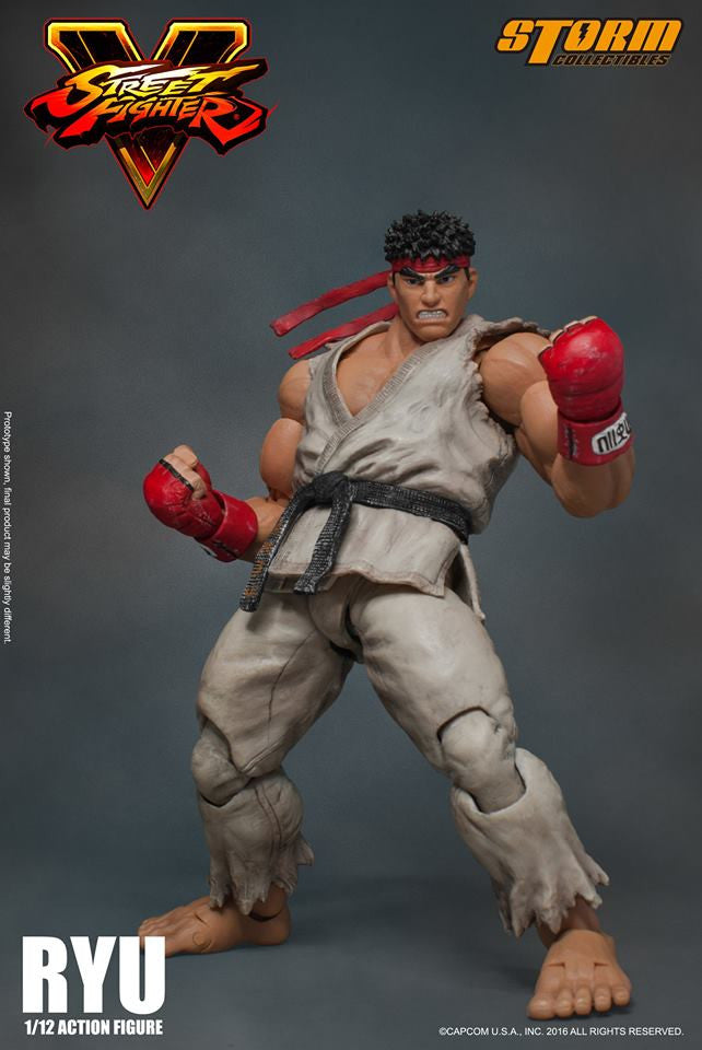 Storm Collectibles - 1:12 Scale Action Figure - Street Fighter V - Ryu - Marvelous Toys - 12