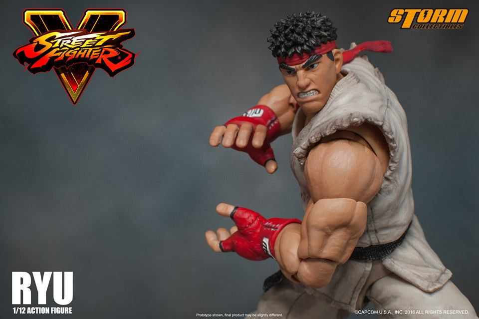 Storm Collectibles - 1:12 Scale Action Figure - Street Fighter V - Ryu - Marvelous Toys - 16