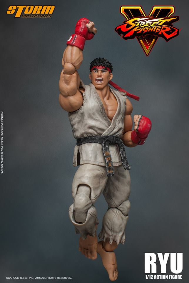 Storm Collectibles - 1:12 Scale Action Figure - Street Fighter V - Ryu - Marvelous Toys - 18
