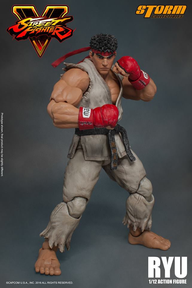 Storm Collectibles - 1:12 Scale Action Figure - Street Fighter V - Ryu - Marvelous Toys - 3
