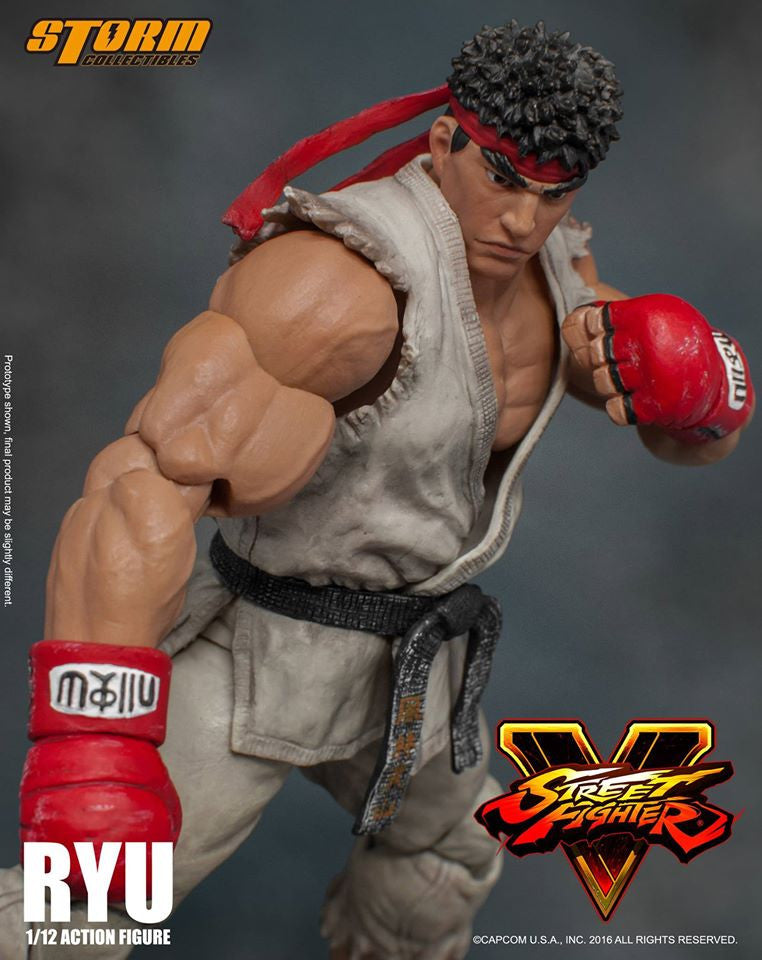 Storm Collectibles - 1:12 Scale Action Figure - Street Fighter V - Ryu - Marvelous Toys - 5