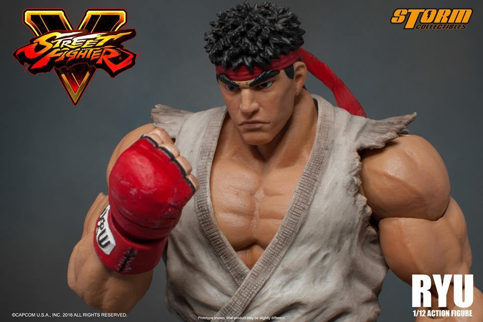 Storm Collectibles - 1:12 Scale Action Figure - Street Fighter V - Ryu - Marvelous Toys - 6