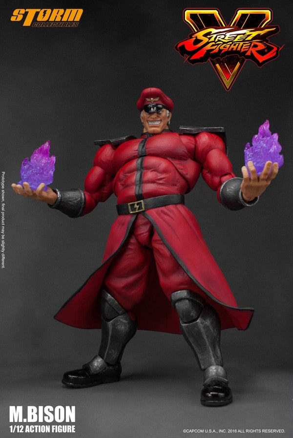 Storm Collectibles - 1:12 Scale Action Figure - Street Fighter V - M. Bison - Marvelous Toys - 1