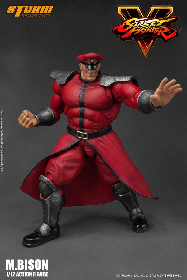Storm Collectibles - 1:12 Scale Action Figure - Street Fighter V - M. Bison - Marvelous Toys - 5