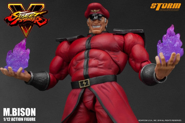 Storm Collectibles - 1:12 Scale Action Figure - Street Fighter V - M. Bison - Marvelous Toys - 7