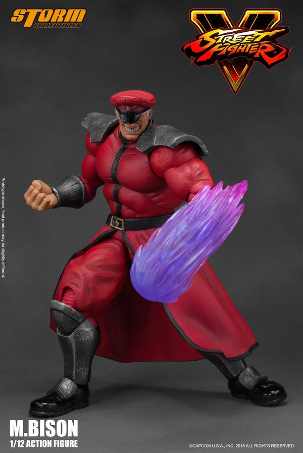 Storm Collectibles - 1:12 Scale Action Figure - Street Fighter V - M. Bison - Marvelous Toys - 8