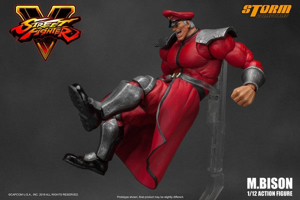 Storm Collectibles - 1:12 Scale Action Figure - Street Fighter V - M. Bison - Marvelous Toys - 12