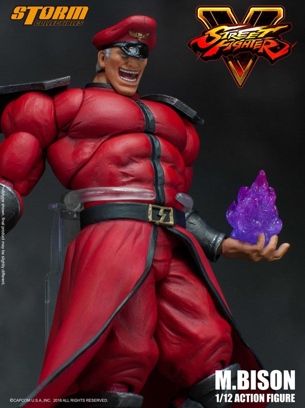 Storm Collectibles - 1:12 Scale Action Figure - Street Fighter V - M. Bison - Marvelous Toys - 13
