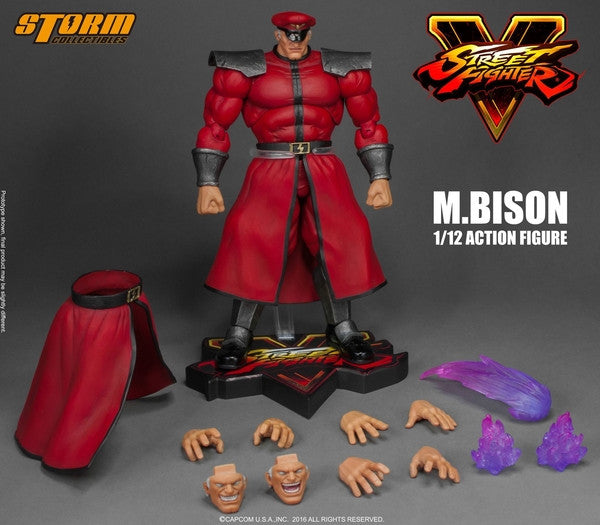Storm Collectibles - 1:12 Scale Action Figure - Street Fighter V - M. Bison - Marvelous Toys - 14
