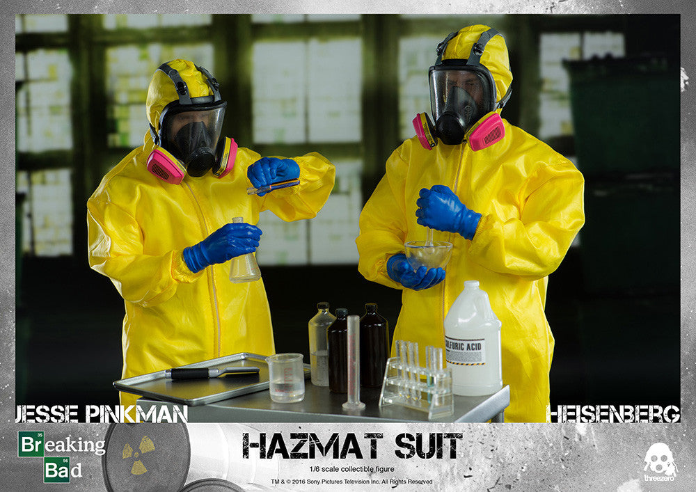 ThreeZero - Breaking Bad - Heisenberg & Jesse Hazmat Suit Combo - Marvelous Toys - 26