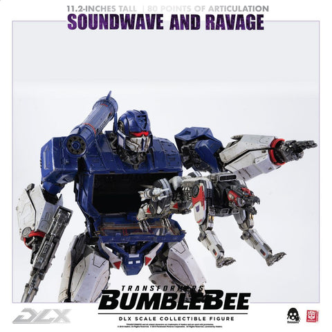 ThreeA - DLX Scale Collectible Series - Transformers: Bumblebee - Soundwave and Ravage