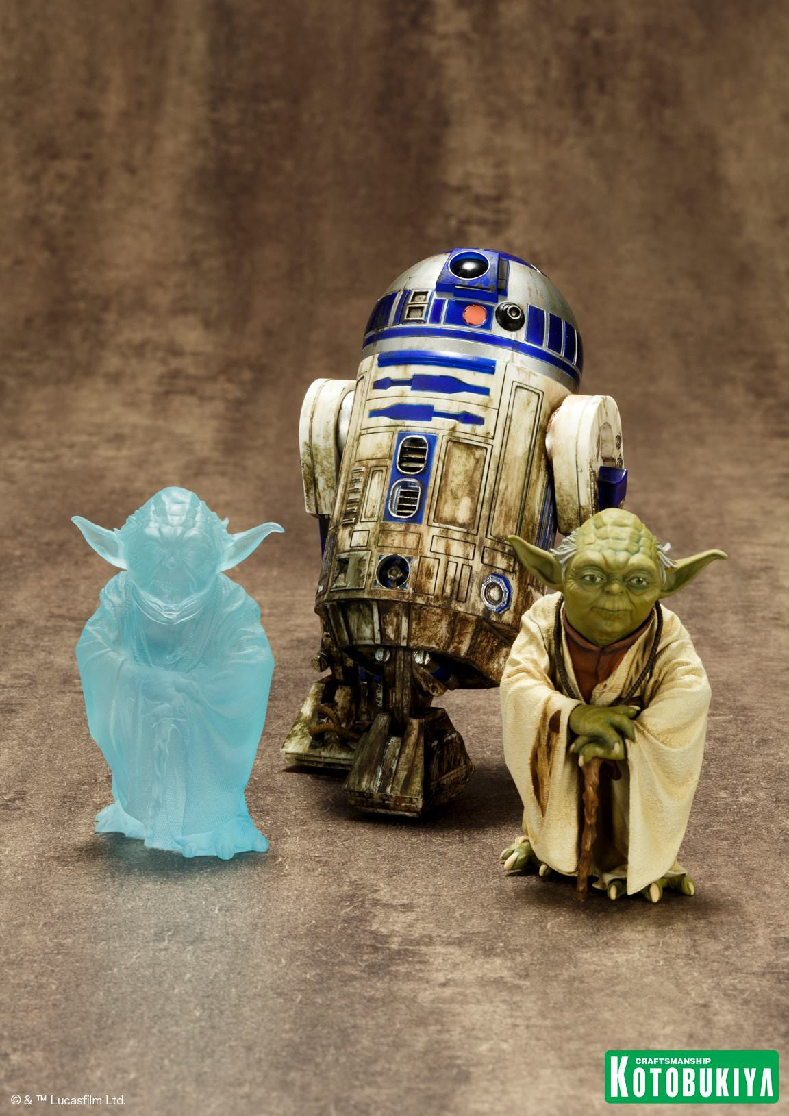 Kotobukiya - Star Wars - Yoda and R2D2 Dagobah ARTFX+ Statue Set - Marvelous Toys - 2