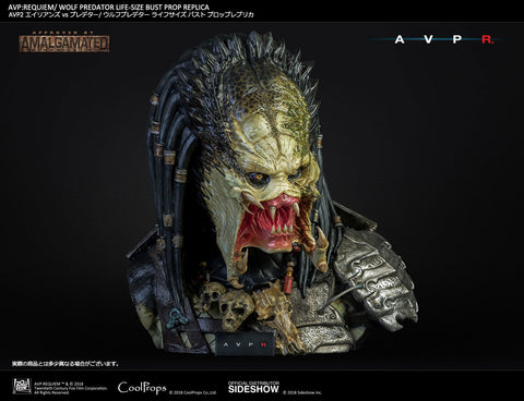 Sideshow Collectibles - Alien vs. Predator: Requiem - Wolf Predator Life-Size Bust by CoolProps