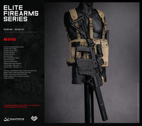 Dam Toys - Elite Firearms Series 3 - 1/6 Vector SMG Tactical Set - EF013 - Black/Coyote