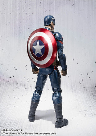 (IN STOCK) S.H. Figuarts - Captain America Civil War - Captain America & Iron Man Mark 46 Special Box Set ToysRUs Japan Exclusive - Marvelous Toys - 8