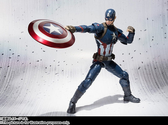 (IN STOCK) S.H. Figuarts - Captain America Civil War - Captain America & Iron Man Mark 46 Special Box Set ToysRUs Japan Exclusive - Marvelous Toys - 10