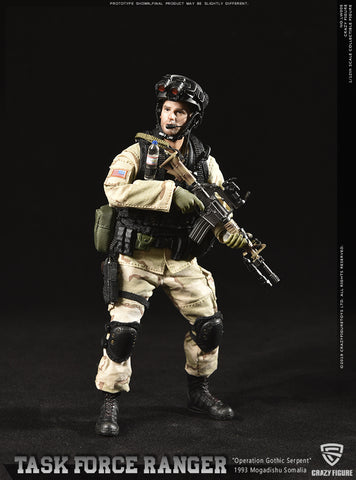 Crazy Figure - LW005 - Operation Gothic Serpent 1993 Mogadishu  - Task Force Ranger - US Delta Special Force Master Sergeant (1/12 Scale)